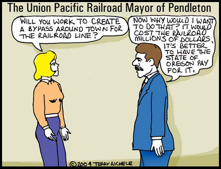 The Union Pacific Railroad Mayor of Pendleton.
